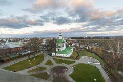弗拉基米尔,俄罗斯- 11月05 2015年 圣尼古拉斯教会在17世纪建造 免版税图库摄影