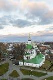 弗拉基米尔,俄罗斯- 11月05 2015年 圣尼古拉斯教会在17世纪建造 库存图片
