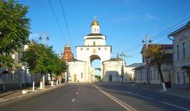 弗拉基米尔,俄罗斯- 2015年6月17日:金门 vladimir 免版税库存图片