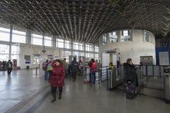 弗拉基米尔,俄罗斯- 11月18 2016年 火车站内部  免版税图库摄影