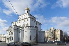 弗拉基米尔,俄罗斯-05 11 2015年 金黄的门 免版税图库摄影