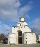 弗拉基米尔,俄罗斯-05 11 2015年 金黄的门 库存图片