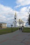 弗拉基米尔,俄罗斯-05 11 2015年 Uspensky大教堂- 免版税库存照片