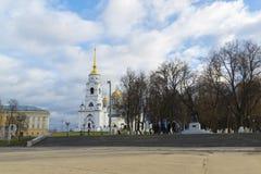 弗拉基米尔,俄罗斯-05 11 2015年 Uspensky大教堂- 库存照片