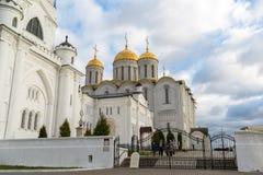 弗拉基米尔,俄罗斯-05 11 2015年 Uspensky大教堂- 库存图片