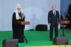 弗拉基米尔・普京和族长Kirill 库存图片