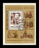 弗拉基米尔Uliyanov列宁, 1870-1924,著名政客无产阶级领导,苏联,大约1983年, 库存图片
