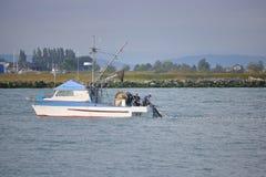 弗拉塞尔河的渔夫 图库摄影