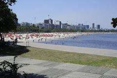 弗拉门戈队海滩在里约热内卢 免版税图库摄影