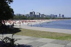 弗拉门戈队海滩在里约热内卢 免版税库存图片