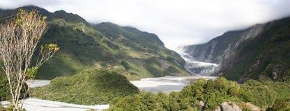 弗朗兹冰川约瑟夫新的全景西兰 免版税库存图片