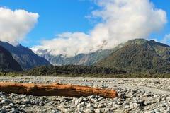 弗朗兹冰川约瑟夫谷 免版税库存图片