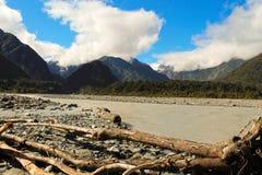 弗朗兹冰川约瑟夫谷 免版税库存照片