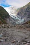 弗朗兹约瑟夫冰川在韦斯特兰国家公园 免版税库存照片