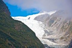 弗朗兹约瑟夫冰川在韦斯特兰国家公园 免版税库存图片