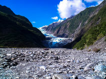 弗朗兹约瑟夫冰川,南岛,新西兰惊人的看法  图库摄影