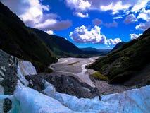 弗朗兹约瑟夫冰川,南岛,新西兰惊人的看法  库存照片