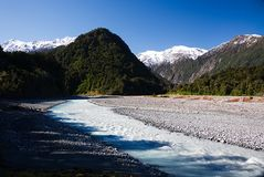 弗朗兹约瑟夫冰川B 免版税库存照片