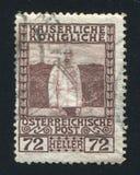 弗朗兹约瑟夫奥地利邮票 免版税库存图片