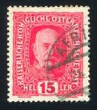 弗朗兹约瑟夫奥地利邮票 库存照片