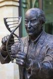 弗朗西斯・克里克雕象在北安普顿 免版税库存图片