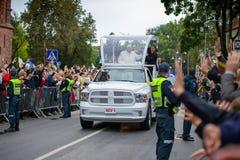 弗朗西斯教皇在立陶宛拜访的 库存图片
