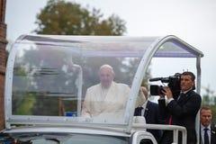 弗朗西斯教皇在立陶宛拜访的 库存照片