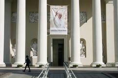 弗朗西斯教皇在维尔纽斯,立陶宛 库存照片