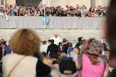 弗朗西斯教皇在罗马 免版税库存照片