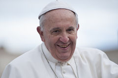弗朗西斯教皇画象 免版税库存照片