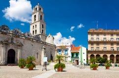 弗朗西斯科・哈瓦那老圣广场 免版税库存图片