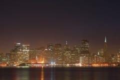 弗朗西斯科晚上圣地平线 免版税库存照片