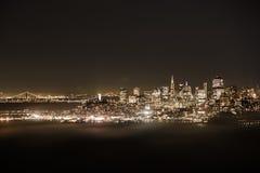 弗朗西斯科晚上圣地平线 库存照片