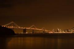 弗朗西斯科晚上圣地平线 免版税库存图片