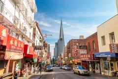 弗朗西斯科的唐人街 库存照片