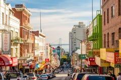 弗朗西斯科的唐人街 免版税库存图片