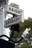 弗朗西斯科haight圣街道符号 免版税库存照片