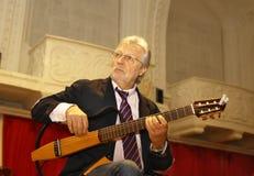 弗朗西斯Goya比利时吉他弹奏者和作曲家 免版税库存照片