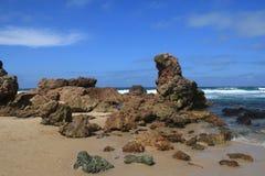 弗林的海滩NSW 免版税库存照片