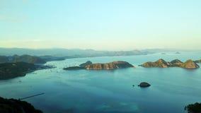 弗洛雷斯岛群岛鸟瞰图  股票视频