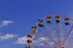 弗累斯大转轮公园反对天空蔚蓝 库存图片