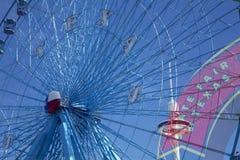 弗累斯大转轮和得克萨斯状态市场签字 库存照片