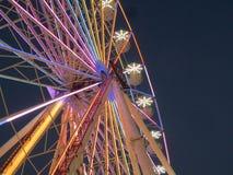 弗累斯大转轮在夜公平的洛杉矶郡之前 库存图片