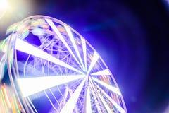 弗累斯大转轮有明亮的光背景 库存图片