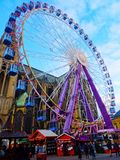 弗累斯大转轮,圣诞节市场,梅茨 库存照片