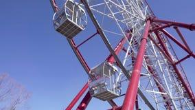 弗累斯大转轮 蓝色ferris天空轮子 重要人物 股票录像