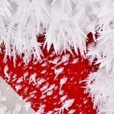 弗罗斯特-树冰美好的冬天季节性抽象背景 库存照片