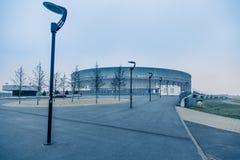 弗罗茨瓦夫体育场,冷的口气背景 图库摄影