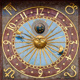 弗罗茨瓦夫城镇厅的天文学时钟 免版税库存照片
