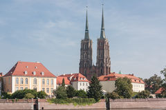 弗罗茨瓦夫大教堂致力圣约翰浸礼会教友 库存照片